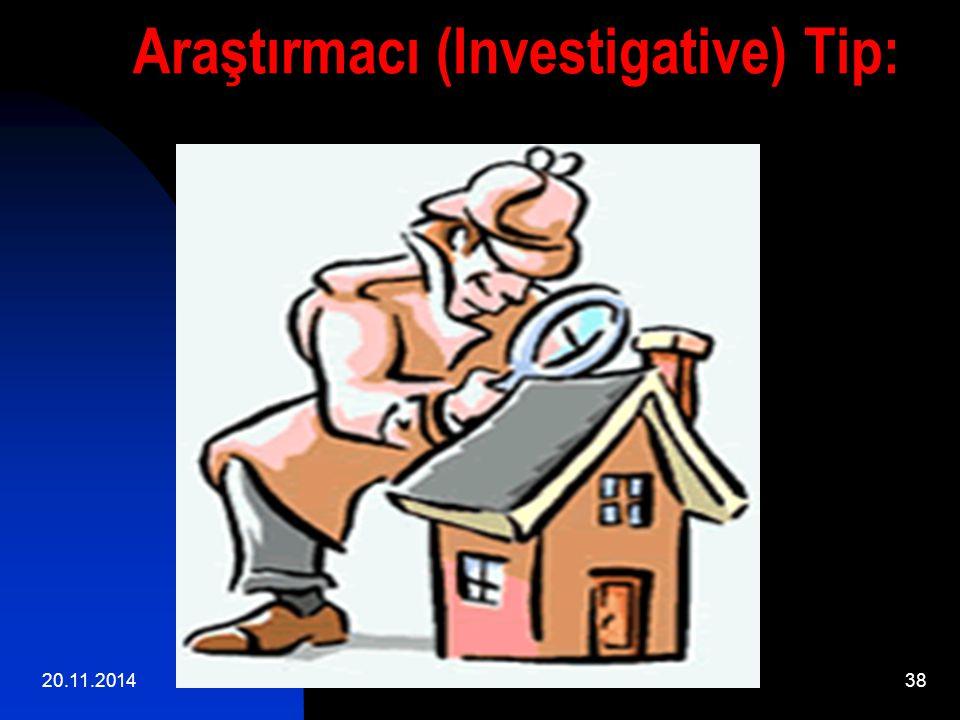 20.11.201438 Araştırmacı (Investigative) Tip: