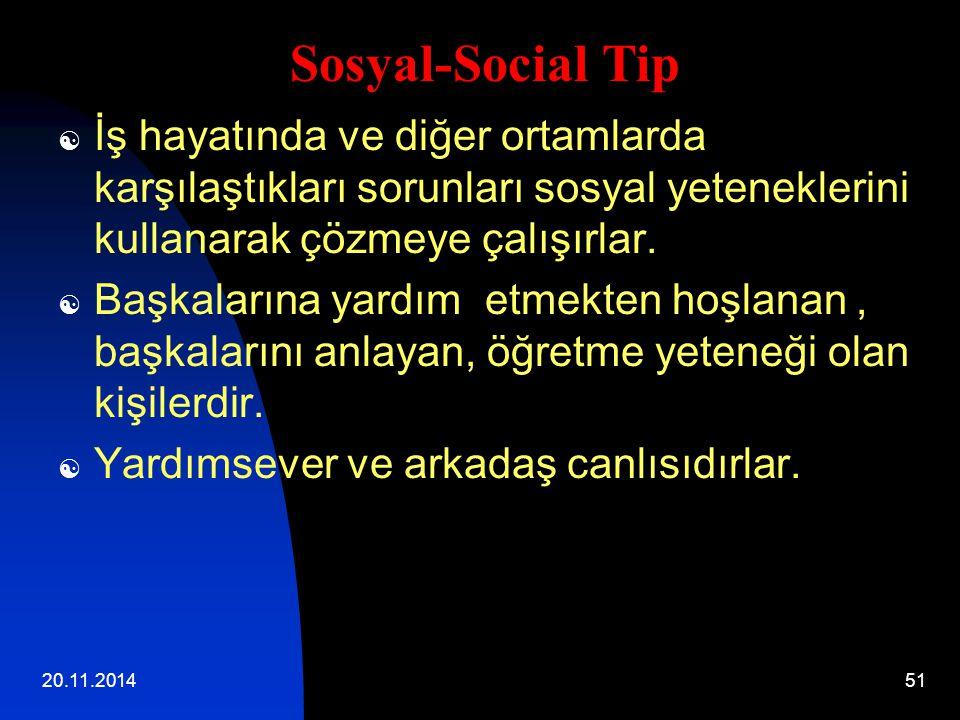 20.11.201451  İş hayatında ve diğer ortamlarda karşılaştıkları sorunları sosyal yeteneklerini kullanarak çözmeye çalışırlar.