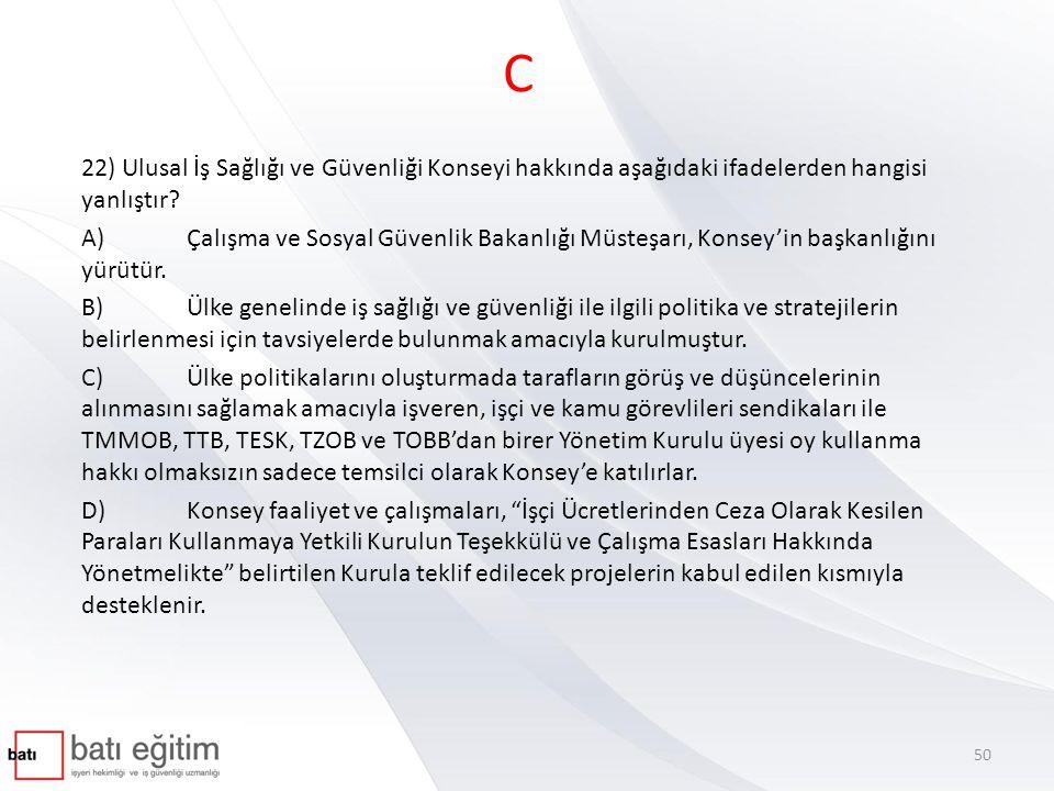 ULUSAL İŞ SAĞLIĞI VE GÜVENLİĞİ KONSEYİ YÖNETMELİĞİ - 05.02.2013 Konseyin kuruluş amacı – MADDE 4 (1) Konsey, ülke genelinde iş sağlığı ve güvenliği ile ilgili politika ve stratejilerin belirlenmesi için tavsiyelerde bulunmak üzere kurulmuştur.