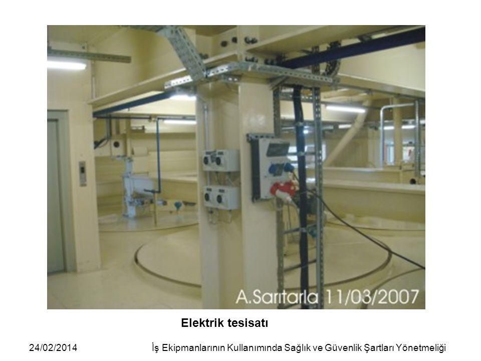 24/02/2014İş Ekipmanlarının Kullanımında Sağlık ve Güvenlik Şartları Yönetmeliği Elektrik tesisatı