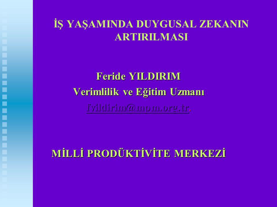 Feride YILDIRIM 1968 1968 Ankara Doğumlu Hacettepe Hacettepe Üniversitesi Eğitim Programları ve Ögretim Bölümünden 1986-1990 Dönemi Mezunu 1992 Yılından Buyana MPM'de Uzman Olarak Çalışmaktadır.