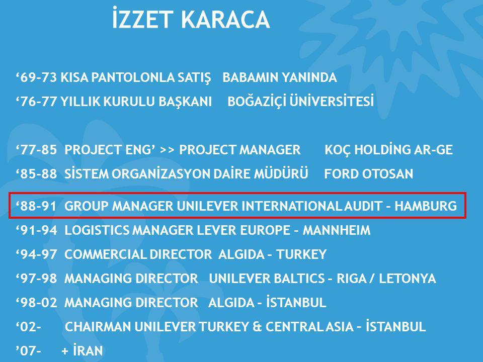 Unilever Türkiye Sarbanes Oxley (SOX) Uygulaması …  Unilever Türkiye, 14 Unilever ülkesi ile beraber SOX uygulamaktadır.
