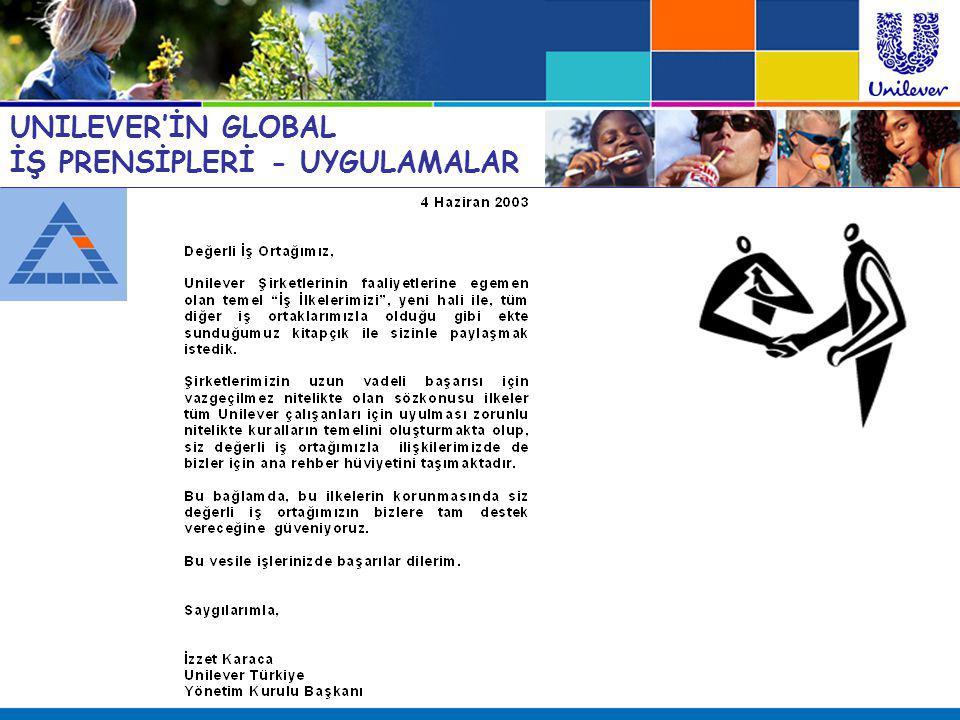 UNILEVER'İN GLOBAL İŞ PRENSİPLERİ - UYGULAMALAR