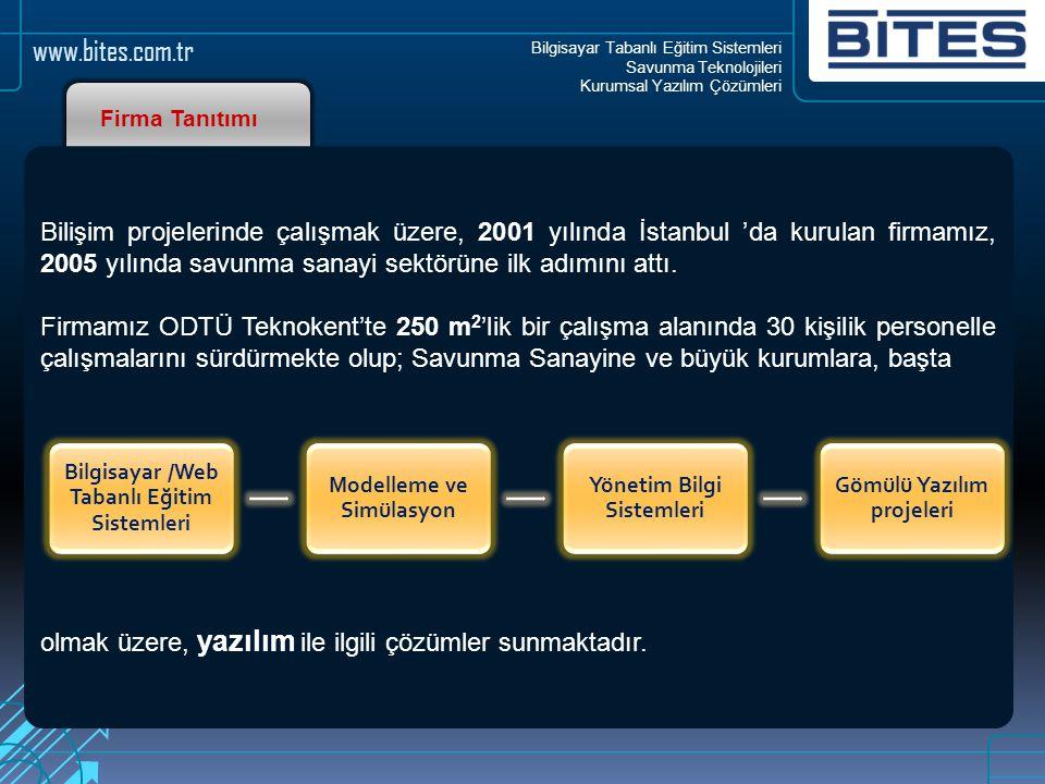 Bilgisayar Tabanlı Eğitim Sistemleri Savunma Teknolojileri Kurumsal Yazılım Çözümleri www.bites.com.tr Firma Tanıtımı Bilişim projelerinde çalışmak üz