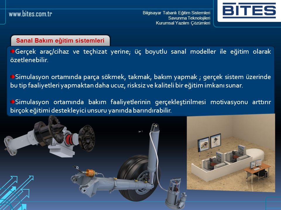 Bilgisayar Tabanlı Eğitim Sistemleri Savunma Teknolojileri Kurumsal Yazılım Çözümleri www.bites.com.tr Gerçek araç/cihaz ve teçhizat yerine; üç boyutl