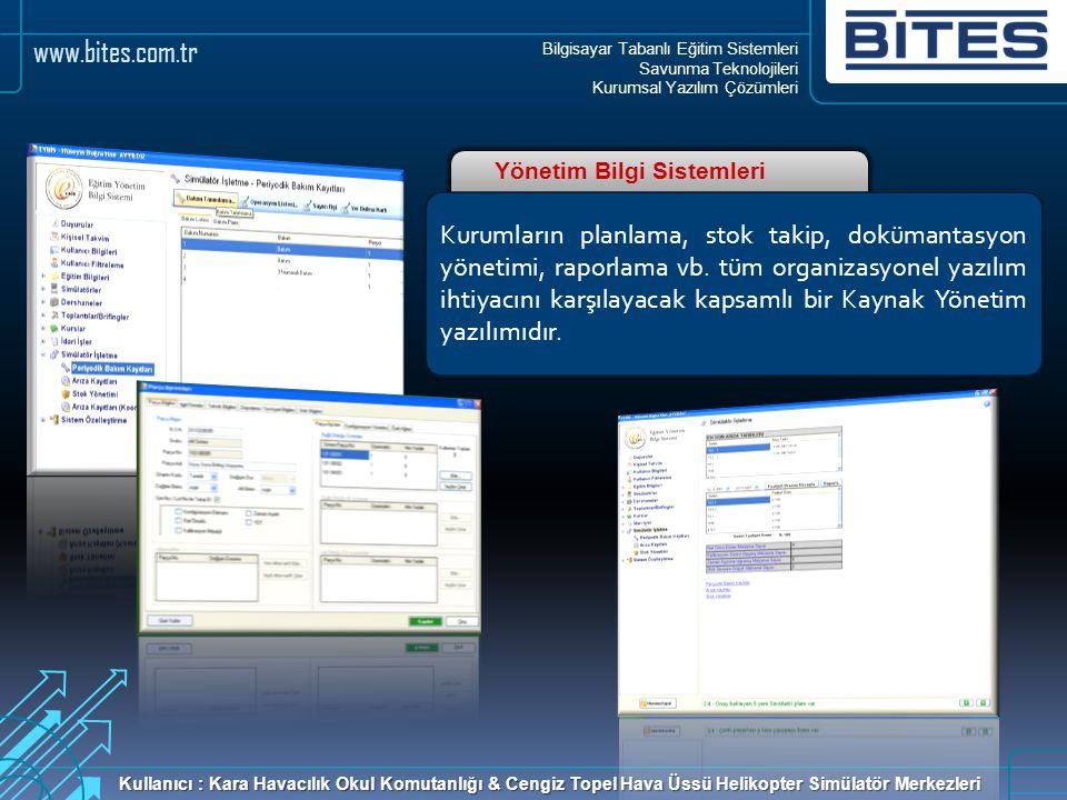 Bilgisayar Tabanlı Eğitim Sistemleri Savunma Teknolojileri Kurumsal Yazılım Çözümleri www.bites.com.tr Yönetim Bilgi Sistemleri Kurumların planlama, s