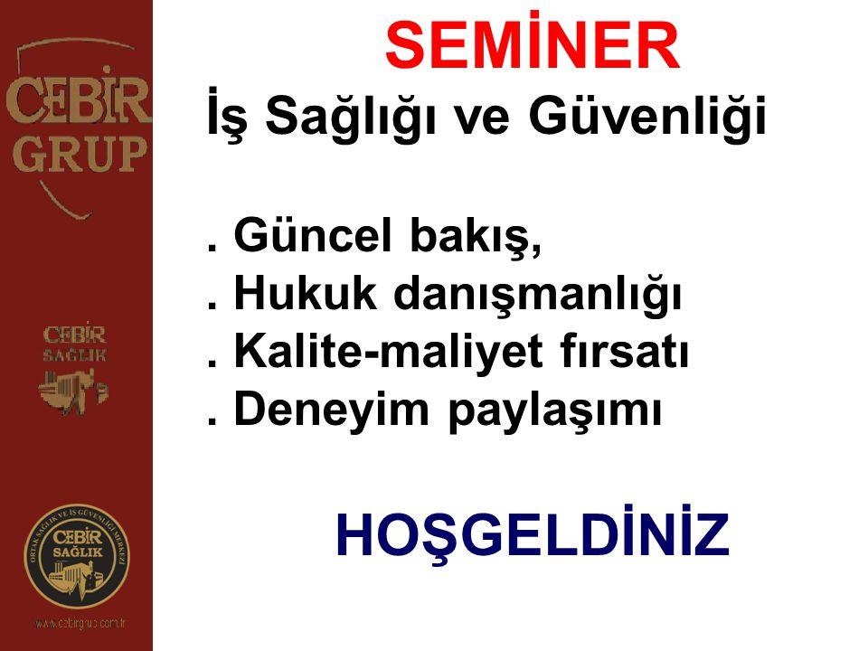 PROGRAM AKIŞI 13:30-14:15 İSG Kanunu, KOBİ'lerin Temel Sorun ve Çözümlerine Yönelik Deneyim Paylaşımı 14:15-14:45 Denetim Bakış Açısı (ÇSGB İş Teftiş Kurulu Başkanlığı İstanbul Grup Başkanı) 14:45-15:15 Bir Dünya Devi Uygulaması (Toyota Boshoku) 15:15-15:30 Kahve Molası 15:30-16:00 Eğitim Hizmetleri 16:00-16:30 Üniversite ve Bilirkişi Bakış açısı 16:30-17:00 İş Güvenliği gereklilikleri ve deneyimleri 17:00-17:30 İş Kazası ve Meslek Hastalıklarına Yönelik paylaşımlar