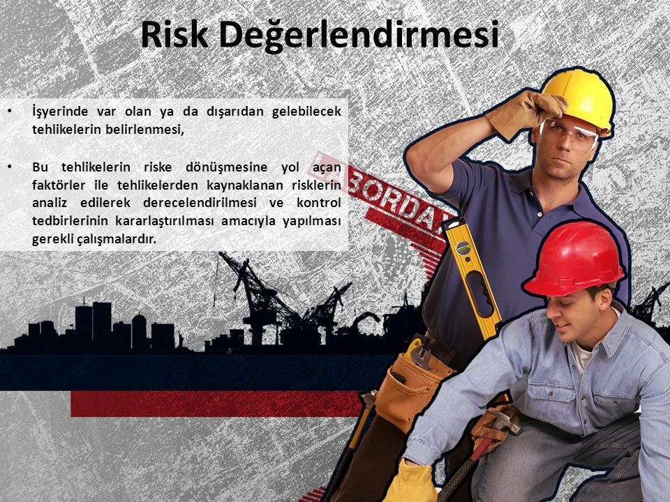Risk Değerlendirmesi İşyerinde var olan ya da dışarıdan gelebilecek tehlikelerin belirlenmesi, Bu tehlikelerin riske dönüşmesine yol açan faktörler il