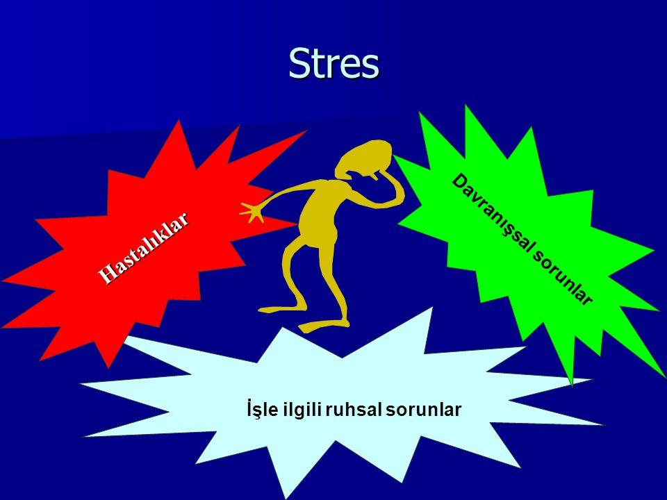 Stres İşle ilgili ruhsal sorunlar Hastalıklar Davranışsal sorunlar