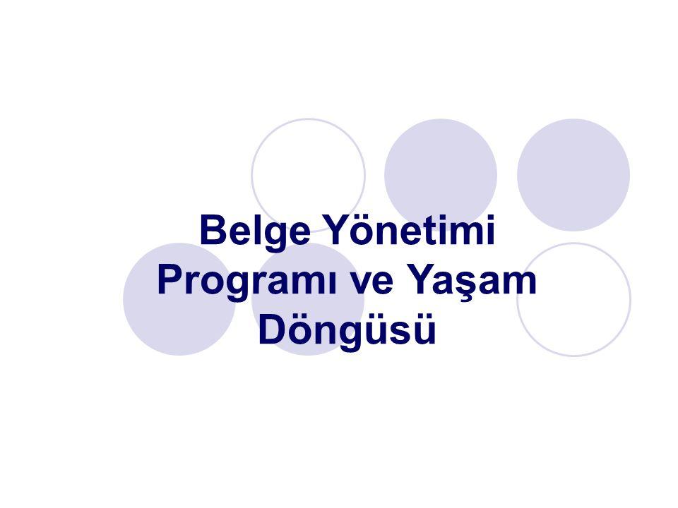 Belge yönetimi programı, belge yönetimi disiplininin öngördüğü kurallar doğrultusunda oluşturulan ve belgesel işlemlerin daha etkin ve ekonomik olarak sürdürülmesi konusunda ilke ve uygulamalar içeren plandır.
