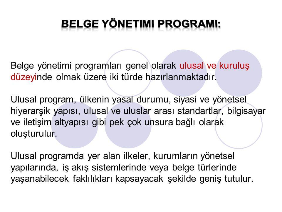 Kurumsal düzeyde hazırlanan programlar ise, ulusal programda yer alan ilkeler temel alınarak kurumsal yapılanma doğrultusunda oluşturulur.