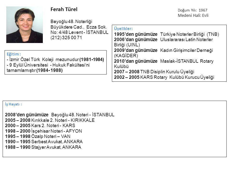 Ferah Türel İş Hayatı : 2008'den günümüzeBeyoğlu 48.