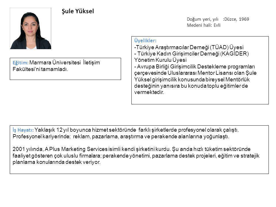 Şule Yüksel İş Hayatı: Yaklaşık 12 yıl boyunca hizmet sektöründe farklı şirketlerde profesyonel olarak çalıştı.