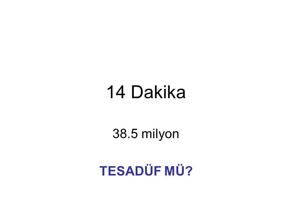 14 Dakika 38.5 milyon TESADÜF MÜ?
