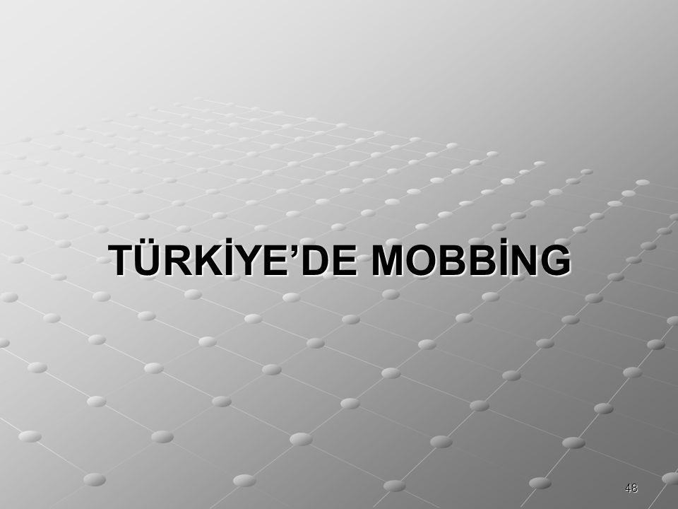 48 TÜRKİYE'DE MOBBİNG