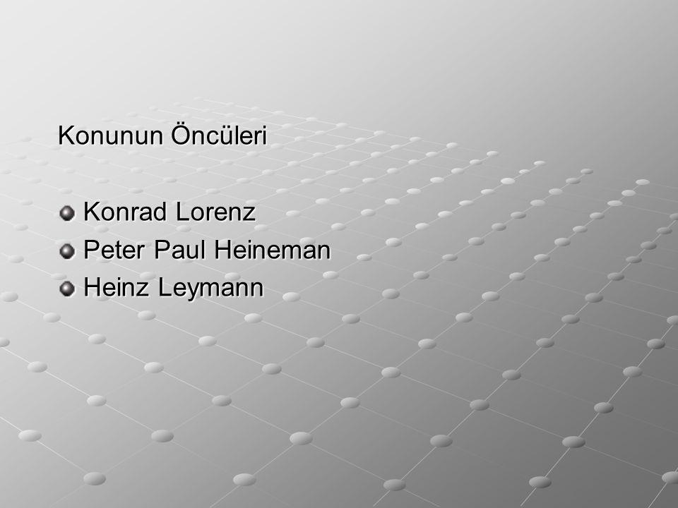Konunun Öncüleri Konrad Lorenz Peter Paul Heineman Heinz Leymann