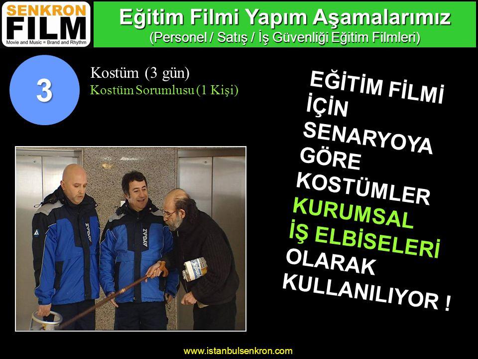 www.istanbulsenkron.com Çekim Mekanı (3 gün) Mekan Sorumlusu (1 Kişi) 4 BURASI BİR BENZİN İSTASYONU .