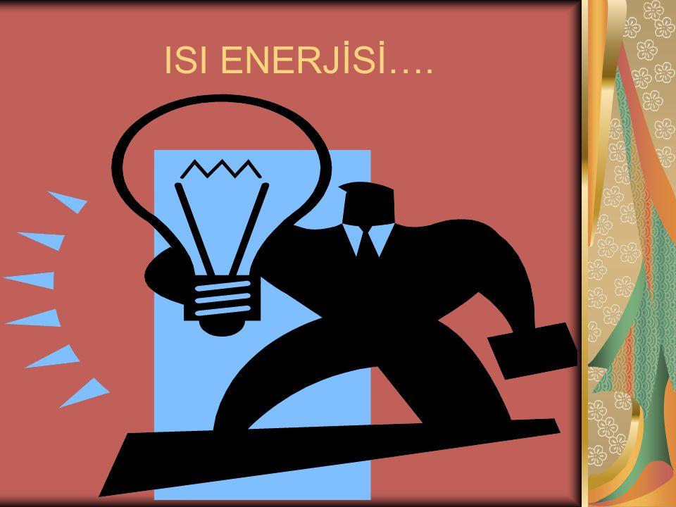 KİNETİK ENERJİ Hareket halindeki varlıkların sahip olduğu enerjiye kinetik enerji denir.