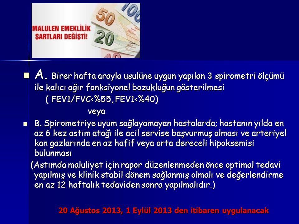 20 Ağustos 2013, 1 Eylül 2013 den itibaren uygulanacak A.