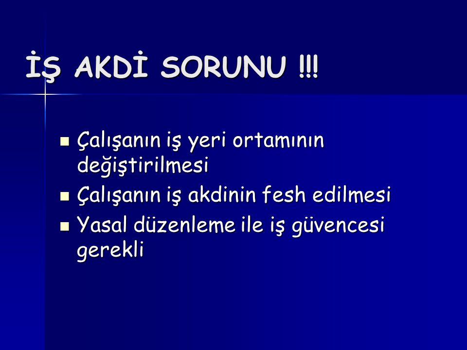 İŞ AKDİ SORUNU !!.