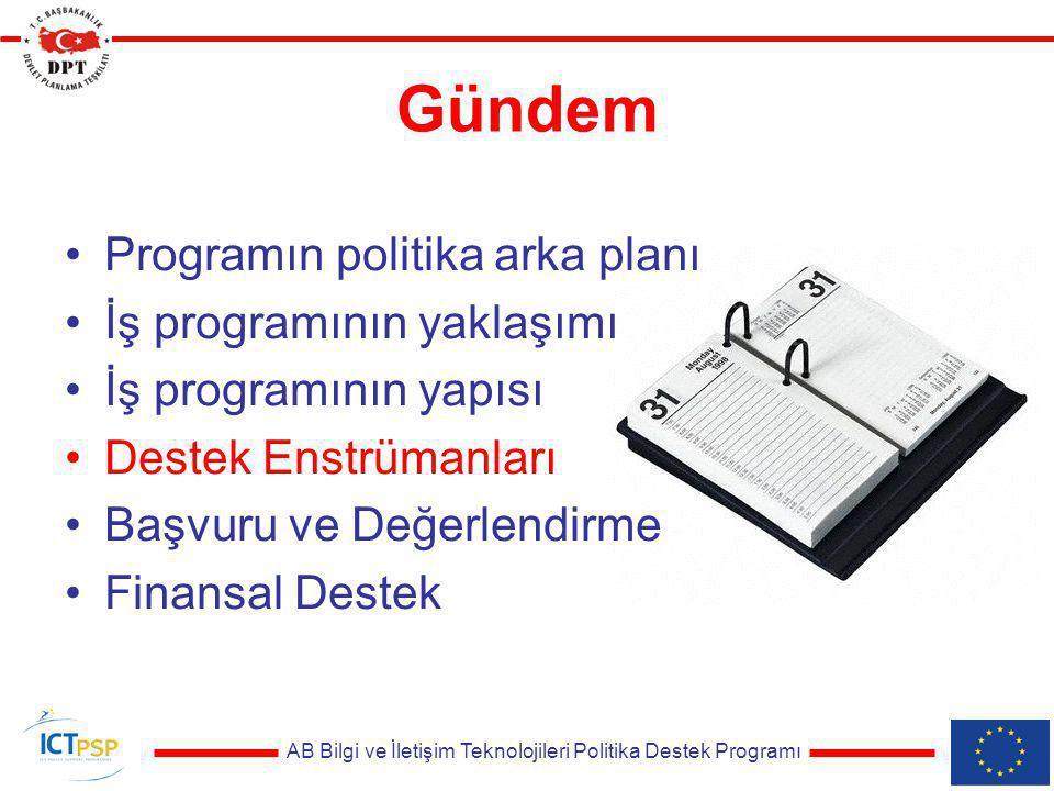 AB Bilgi ve İletişim Teknolojileri Politika Destek Programı Destek Enstrümanları