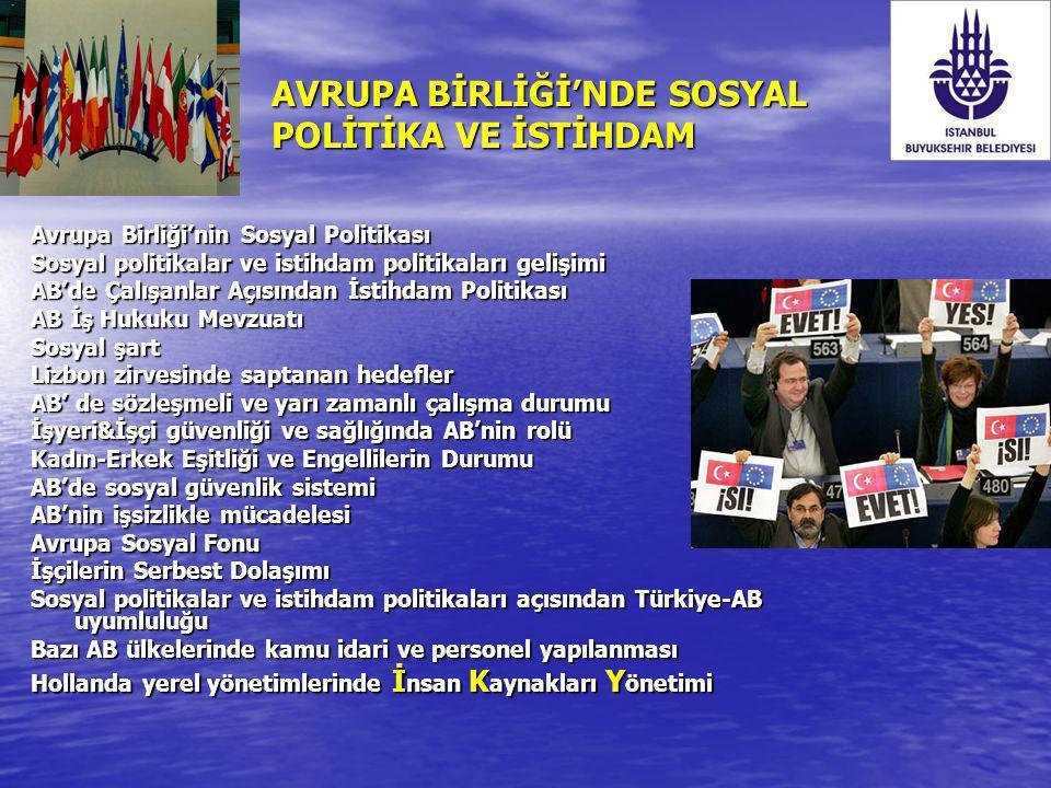 Sosyal Politikalar ve İstihdam Politikalar Açısından Türkiye-AB Uyumluluğu İsçilerin serbest dolaşımı kapsamında; Türk mevzuatı, yabancıların istihdamına sınırlı olarak izin vermekte; istihdam edilen yabancılar ile Türkler arasında istihdam koşulları bakımından ayırımcı hükümler içermemektedir.