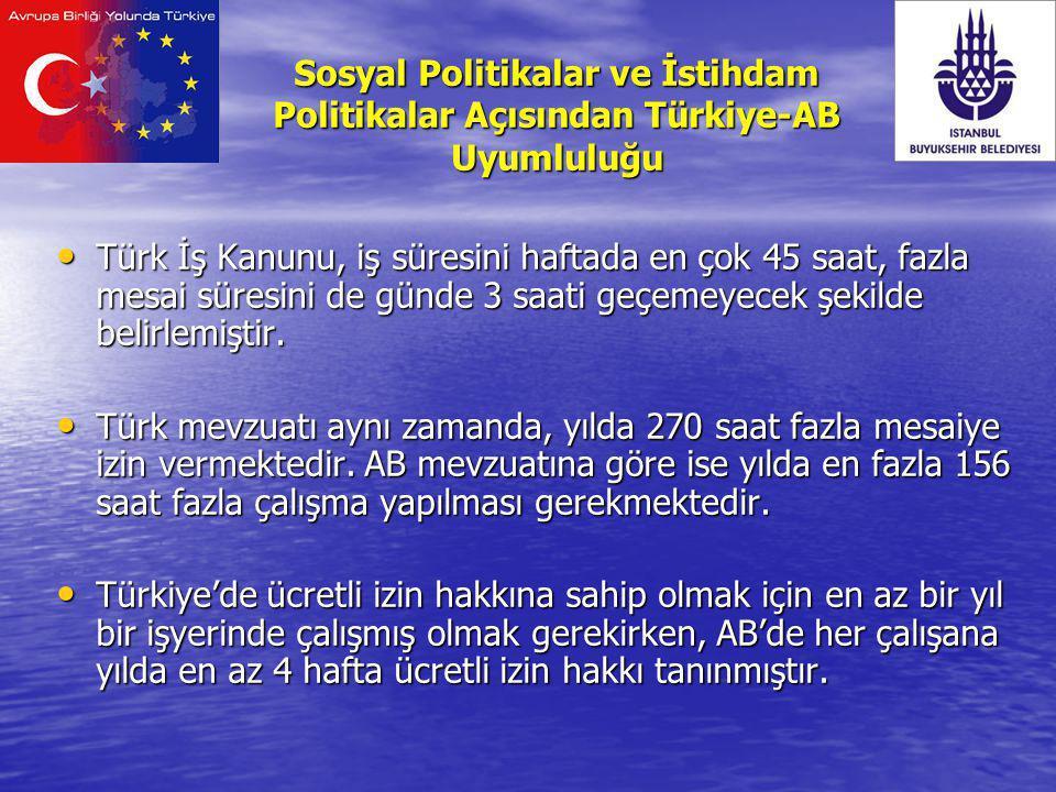 Türk İş Kanunu, iş süresini haftada en çok 45 saat, fazla mesai süresini de günde 3 saati geçemeyecek şekilde belirlemiştir. Türk İş Kanunu, iş süresi