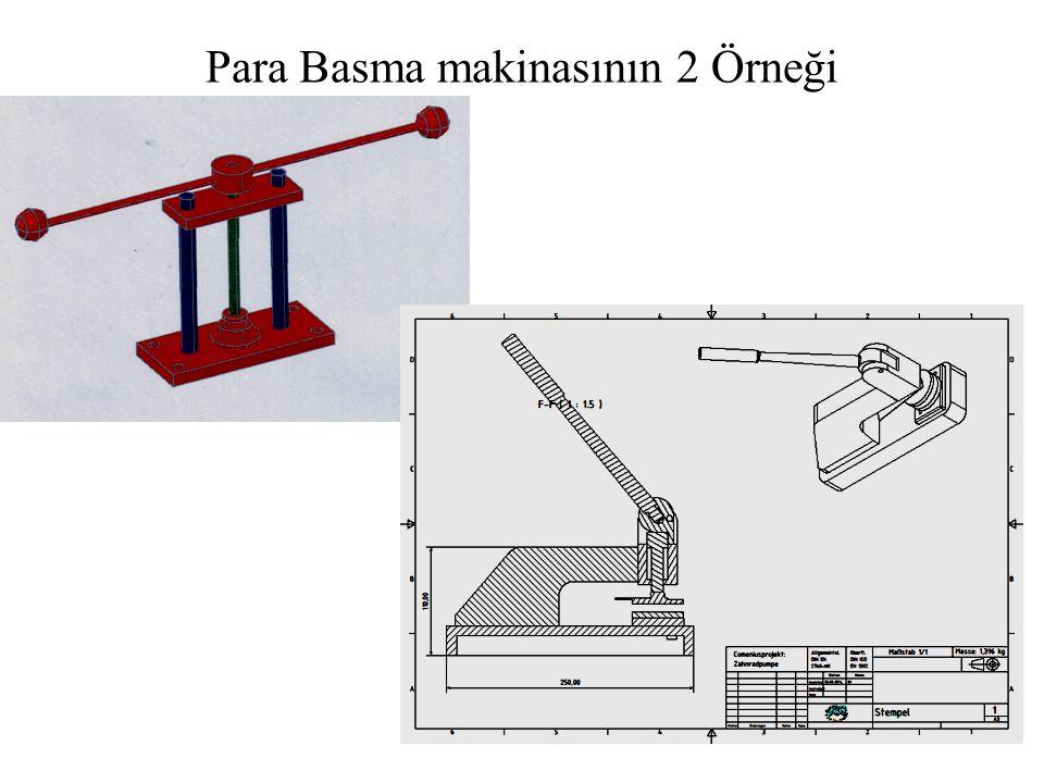 Para Basma makinasının 2 Örneği