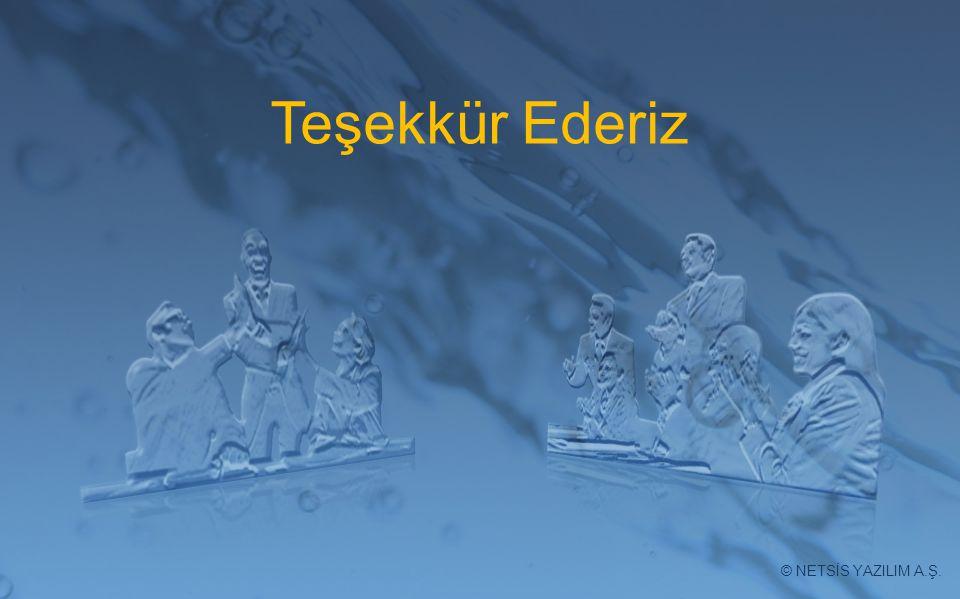Teşekkür Ederiz © NETSİS YAZILIM A.Ş.
