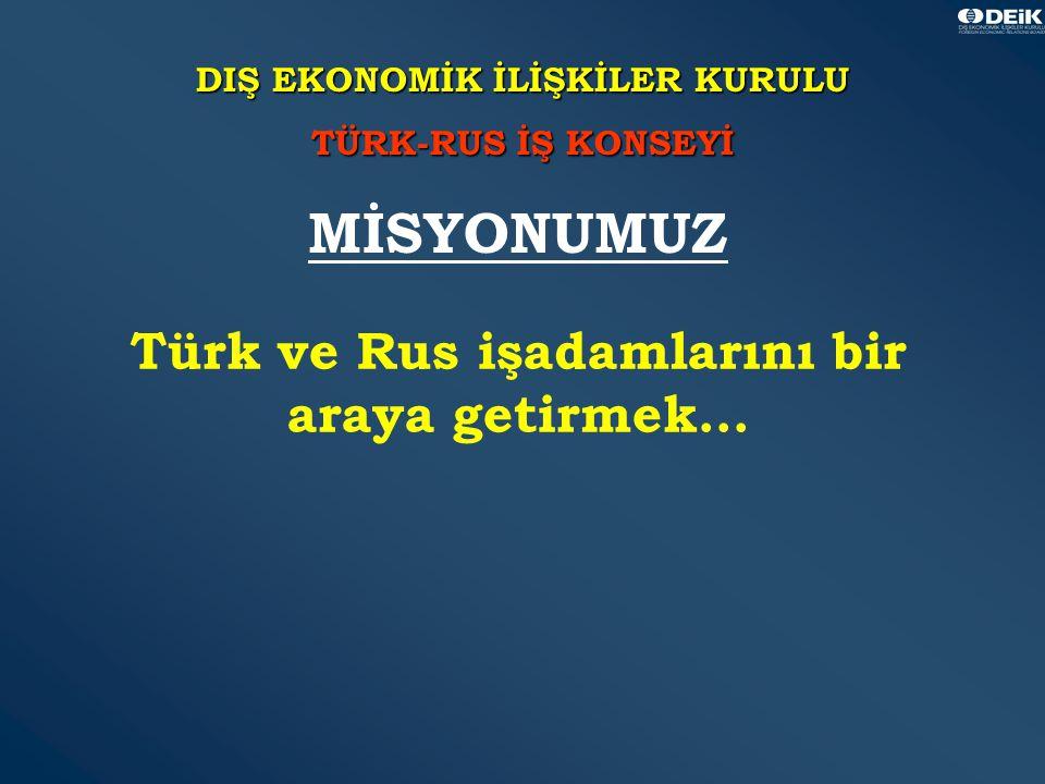 34 DIŞ EKONOMİK İLİŞKİLER KURULU TÜRK-RUS İŞ KONSEYİ Türk ve Rus işadamlarını bir araya getirmek...