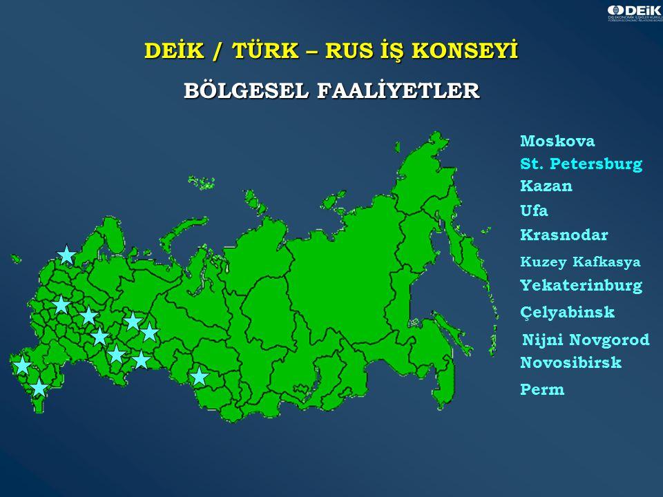 38 DEİK / TÜRK – RUS İŞ KONSEYİ BÖLGESEL FAALİYETLER Moskova St.
