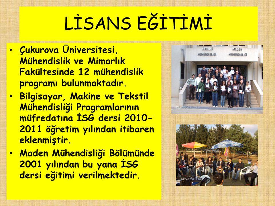 LİSANS EĞİTİMİ Çukurova Üniversitesi, Mühendislik ve Mimarlık Fakültesinde 12 mühendislik programı bulunmaktadır. Bilgisayar, Makine ve Tekstil Mühend