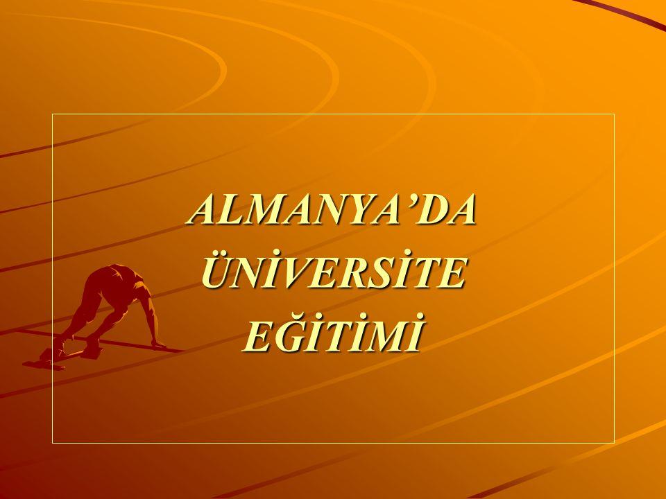 ALMANYA'DAÜNİVERSİTEEĞİTİMİ