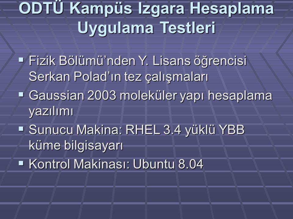 ODTÜ Kampüs Izgara Hesaplama Uygulama Testleri  Fizik Bölümü'nden Y.