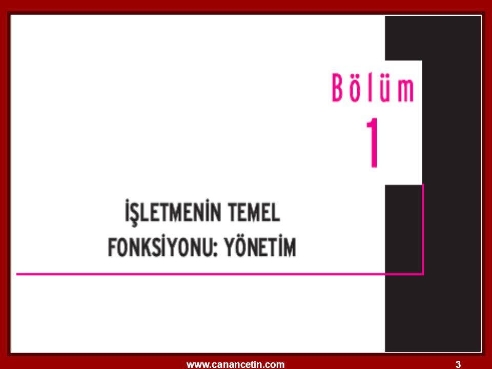 www.canancetin.com94 Fayol'un İlkelerinin Sınıflandırılması  Tabloda, Fayol tarafından belirlenen klasik organizasyon ilkeleri görülmektedir.
