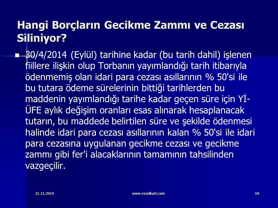 Hangi Borçların Gecikme Zammı ve Cezası Siliniyor? 30/4/2014 (Eylül) tarihine kadar (bu tarih dahil) işlenen fiillere ilişkin olup Torbanın yayımlandı