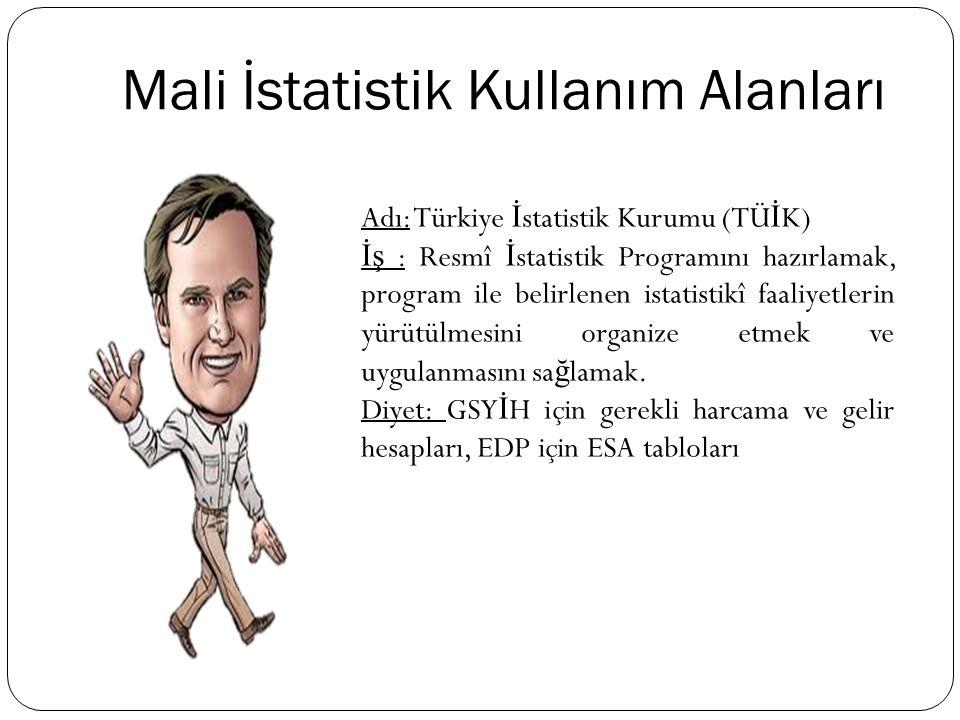 Adı: Türkiye İ statistik Kurumu (TÜ İ K) İş : Resmî İ statistik Programını hazırlamak, program ile belirlenen istatistikî faaliyetlerin yürütülmesini