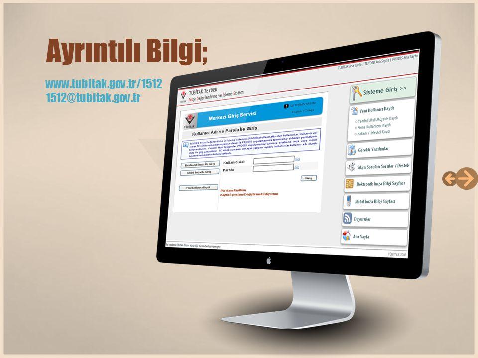 www.tubitak.gov.tr/1512 1512@tubitak.gov.tr Ayrıntılı Bilgi;
