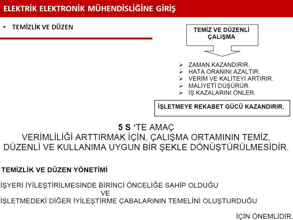 ELEKTRİK ELEKTRONİK MÜHENDİSLİĞİNE GİRİŞ Dr. Ahmet KÜÇÜKER Sakarya Üniversitesi - Elektrik-Elektronik Mühendisliği Bölümü 46 TEMİZLİK VE DÜZEN