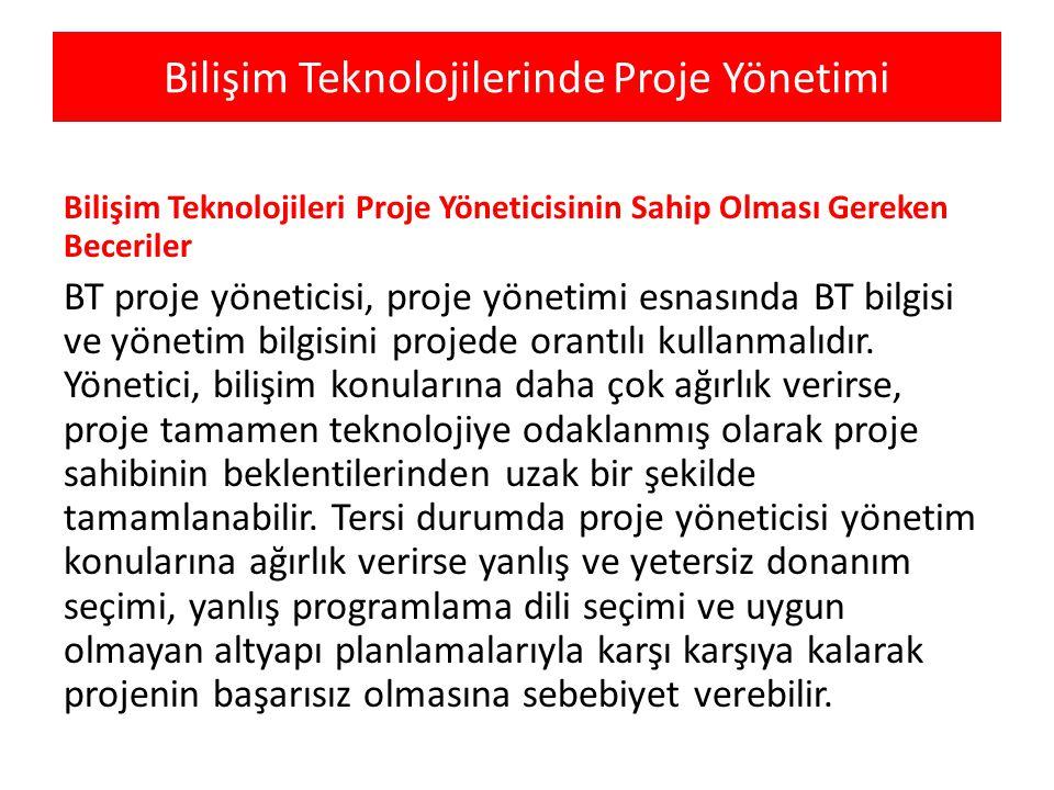 Bilişim Teknolojilerinde Proje Yönetimi Bilişim Teknolojileri Proje Yöneticisinin Sahip Olması Gereken Beceriler BT proje yöneticisi, proje yönetimi e