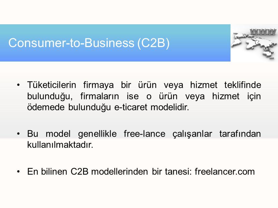 Tüketicilerin firmaya bir ürün veya hizmet teklifinde bulunduğu, firmaların ise o ürün veya hizmet için ödemede bulunduğu e-ticaret modelidir. Bu mode