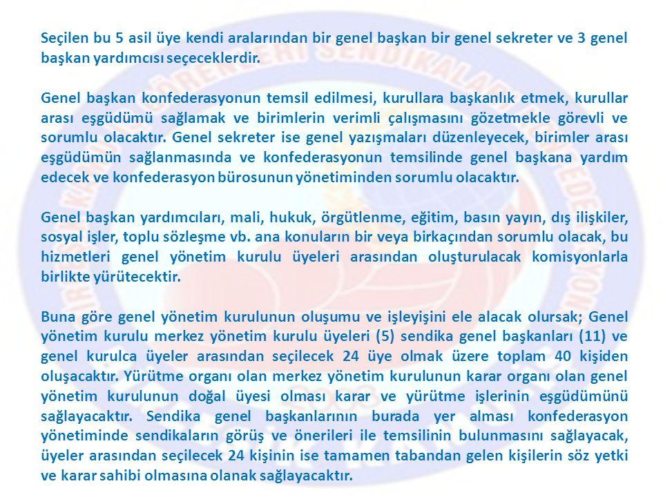 Seçimlerde Uyulacak Esaslar: Madde 14- Genel Kurullarda zorunlu organlara yapılacak seçimler ilgili kanun ve tüzük hükümlerine göre yapılır.