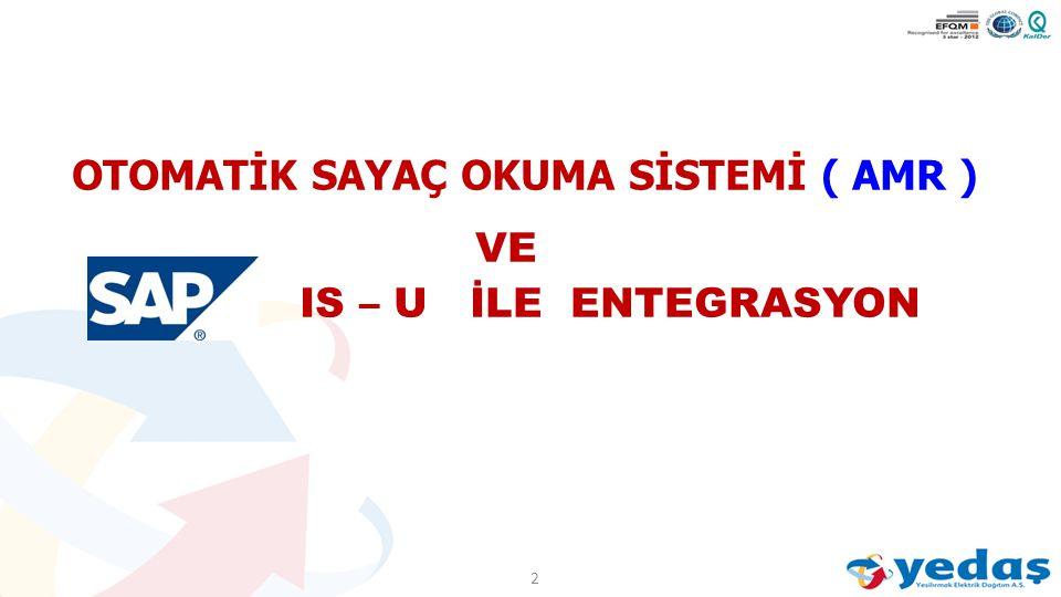 OTOMATİK SAYAÇ OKUMA SİSTEMİ ( AMR ) VE IS – U İLE ENTEGRASYON 2