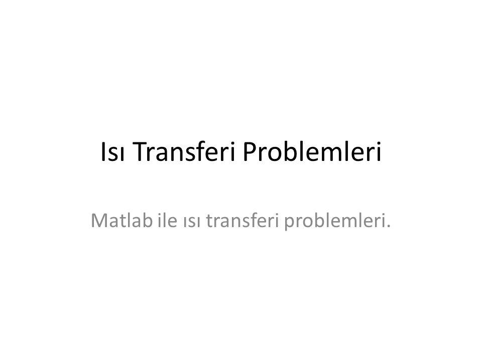 Isı Transferi Problemleri Matlab ile ısı transferi problemleri.
