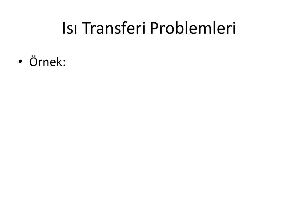 Isı Transferi Problemleri Örnek: