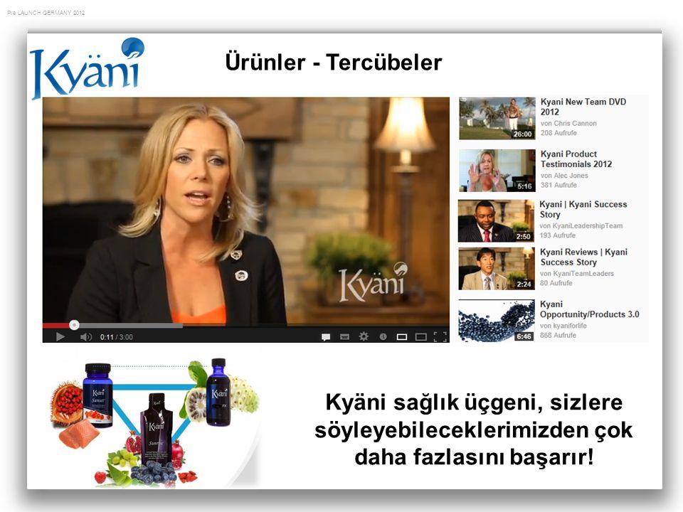 Pre LAUNCH GERMANY 2012 Ürünler - Tercübeler Kyäni sağlık üçgeni, sizlere söyleyebileceklerimizden çok daha fazlasını başarır!