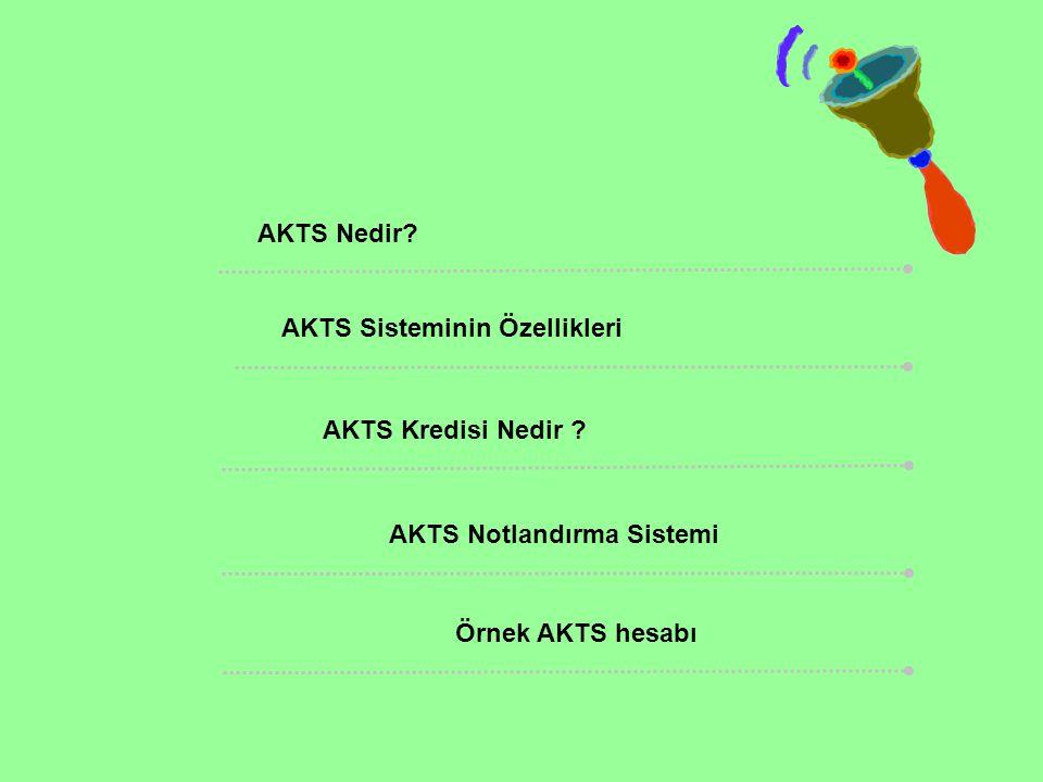 AKTS Nedir? AKTS Sisteminin Özellikleri AKTS Kredisi Nedir ? AKTS Notlandırma Sistemi Örnek AKTS hesabı