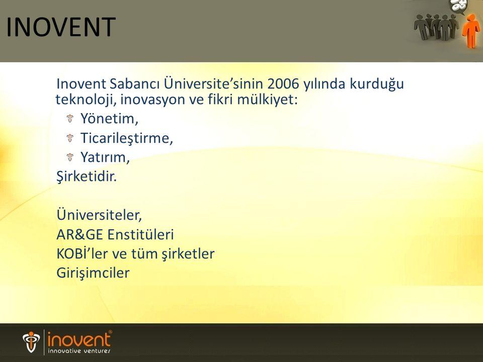 Inovent Sabancı Üniversite'sinin 2006 yılında kurduğu teknoloji, inovasyon ve fikri mülkiyet: Yönetim, Ticarileştirme, Yatırım, Şirketidir.