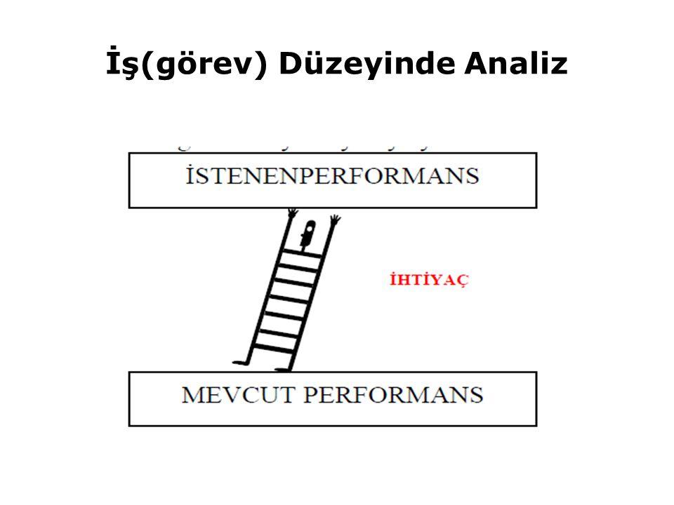 İş(görev) Düzeyinde Analiz