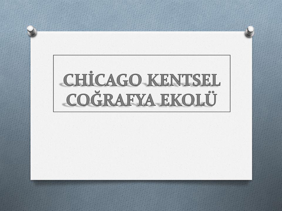 Chicago okulunun ekolojik yaklaşımı; kentler doğal olarak, çekirdekteki merkezi alandan dışarıya doğru büyürler.